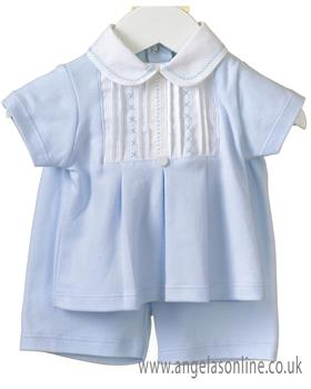 Brecrest Baby Boys Top & Short RR0156-19 BLUE