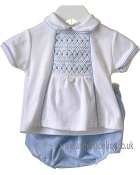 Bluesbaby boys 2 piece set RR0160-19 Wh/Bl