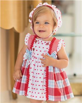 Dolce Petit Girls Dress & Knicks 25-2138-VB-19 WH/RED