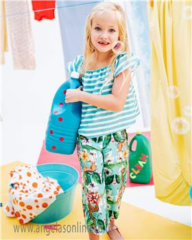 Rosalita Senorita girls T-shirt & trousers LIME 2-9-19