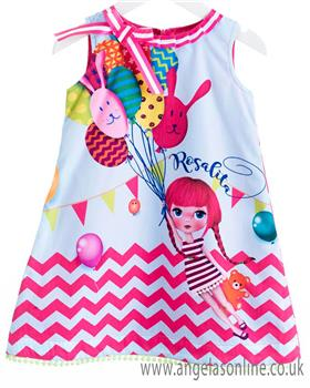 Rosalita Senorita girls dress WATERMELON 1-19
