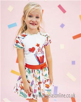 Rosalita Senorita girls T-shirt & Skirt set BLACKBERRY 2-3-19