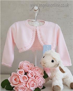 Granlei baby girls bolero cardigan 1-350-19 Pink