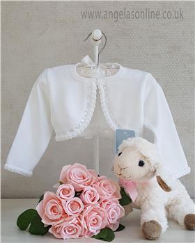 Granlei baby girls bolero cardigan 1-350-19 White