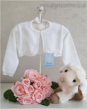 Granlei baby girls bolero cardigan 1-518-19 White