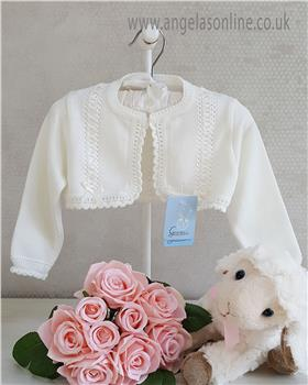 Granlei baby girls bolero cardigan 1-518-19 Ivory