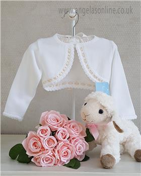 Granlei Baby Girl Bolero Cardigan 1-320 WH/WHEAT