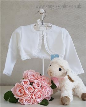 Granlei Baby Girl Bolero Cardigan 1-335-18 White