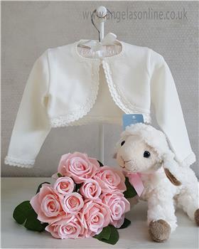 Granlei Baby Girl Bolero Cardigan 1-335-18 Ivory