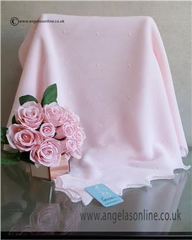 Granlei baby girls blanket 1-495-19 Pink