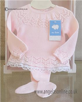 Macilusion baby girls jumper & footsie 7210-19 Pink
