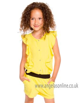 Deux par Deux girls playsuit A30J41 yellow