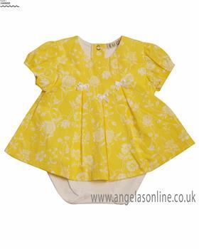 EMC Baby Girls Romper BG7418-19 Lemon