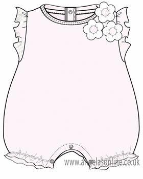 EMC Baby Girls Romper BG7427-19 Pink