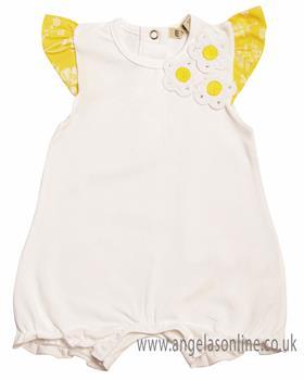 EMC Baby Girls Romper BG7427-19 Lemon