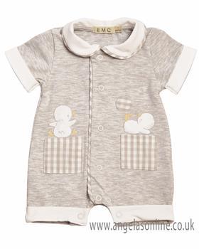 EMC Baby Boy Romper BG7429-19 Grey
