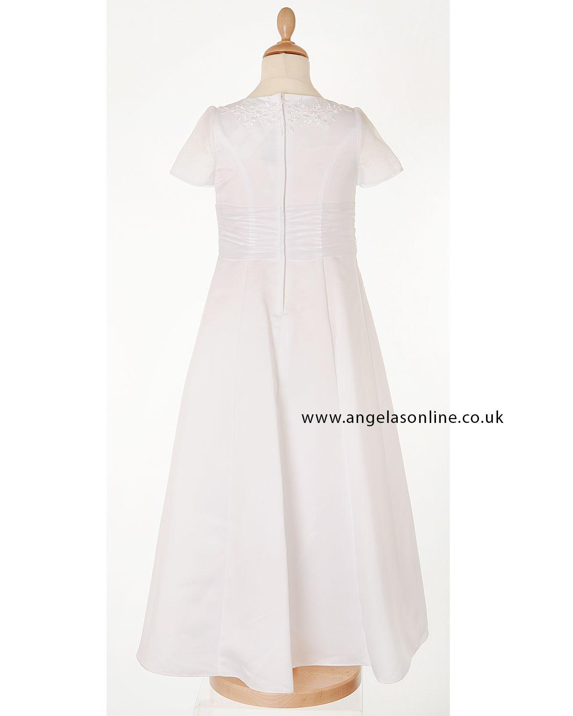 Alice James White Short Sleeved Communion/Bridesmaid Dress ...